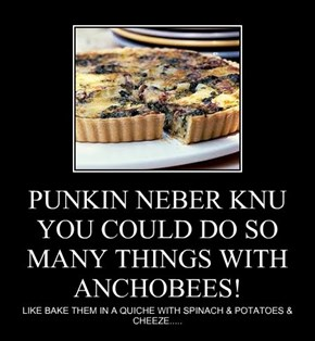 PUNKIN NEBER KNU YOU COULD DO SO MANY THINGS WITH ANCHOBEES!