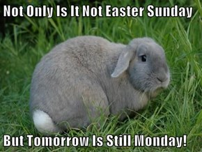 Not Only Is It Not Easter Sunday  But Tomorrow Is Still Monday!