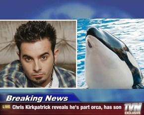 Breaking News - Chris Kirkpatrick reveals he's part orca, has son