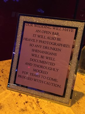The New Standard Sign for All Weddings