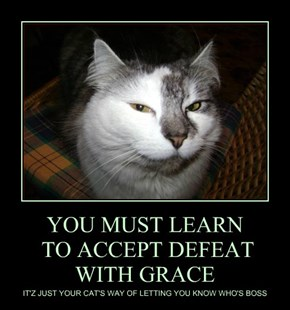 YOU MUST LEARN  TO ACCEPT DEFEAT WITH GRACE