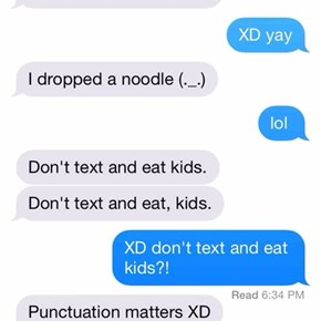 Here we have another reason why punctuation matters