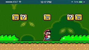 Leaked Screenshot of the First Mobile Mario Game