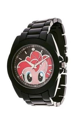 Pinkie Pie's keeping track of time for you.