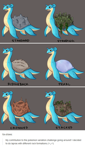 Lapras' Have Varied Shells