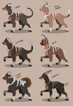 "Houndoom Variations Based Off ""Dangerous Dog Breeds"""