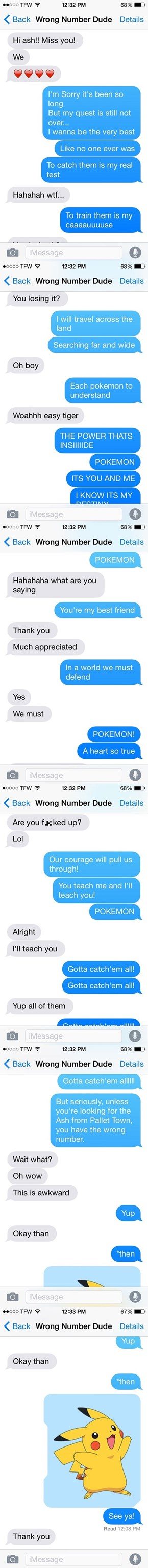 A Random Text for Somebody Named Ash Turns Into an Opportunity for This Guy to Be the Very Best