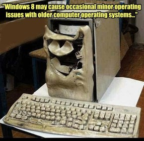 """Windows 8 may cause occasional minor operating issues with older computer operating systems..."""