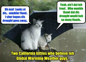 Global Warming Breaking News - With California supposedly entering its fourth year of drought, Gov. Jerry Brown announces $1 billion in drought relief that includes $660 million for Flood Control projects!