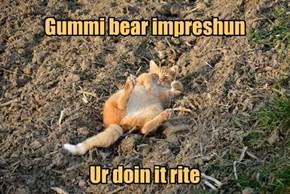 Gummi bear impreshun