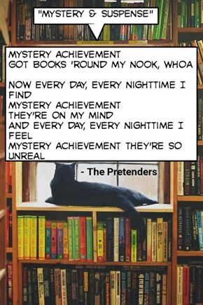 "kitty version of ""Mystery Achievement"" by The Pretenders"
