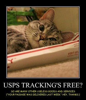 USPS TRACKING'S FREE?