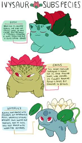 Some Seriously Kawaii Ivysaur Variations