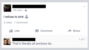 No, Sometimes Anchors Are Tattoos too!