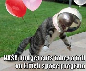 NASA budget cuts takez a toll      on kitteh space program