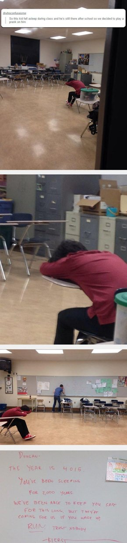 Never Nap Around Clever Classmates