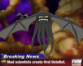 Breaking News - Mad scientists create first OctoBat.