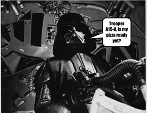 Vader needs a food break