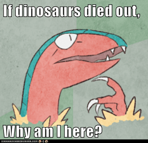 If dinosaurs died out,  Why am I here?