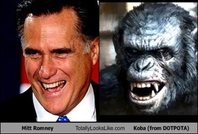 Mitt Romney Totally Looks Like Koba (from DOTPOTA)