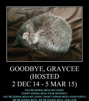 GOODBYE, GRAYCEE (HOSTED 2 DEC 14 - 5 MAR 15)