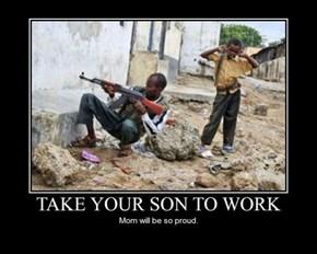 The Kid Looks Like He's Helping
