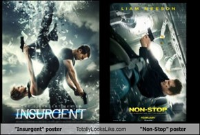 """Insurgent"" poster Totally Looks Like ""Non-Stop"" poster"