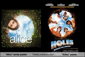 """Alice"" series poster Totally Looks Like ""Holes"" poster"