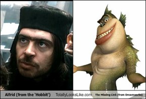 Alfrid (from the 'Hobbit') Totally Looks Like The Missing Link (from Dreamworks)