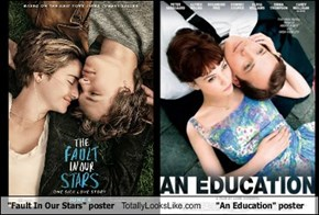 """Fault In Our Stars"" poster Totally Looks Like ""An Education"" poster"