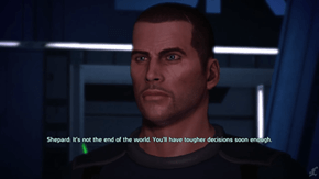 When you're playing Mass Effect and you feel like you made a wrong decision