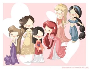 Chibi Disney Princesses