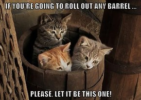 IF YOU'RE GOING TO ROLL OUT ANY BARREL ...  PLEASE, LET IT BE THIS ONE!