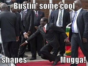 Dictator Mugabe stumbles in public, demands that it not be posted on Interwebs...Sry, too late.