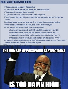 How Not To Write A Password Policy
