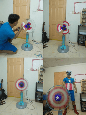 Captain America Fights To Keep Your House Cool