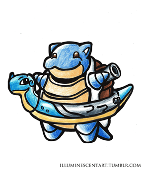 Blastoise is Ready for a Swim