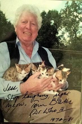 Tom Baker Makes The Best Cat Puns