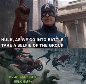 Hulk's Got Mad Instagram Game