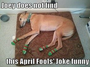 Joey does not find  this April Fools' Joke funny