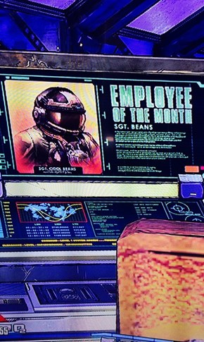 The Employee of the Month in Borderlands: The Pre-Sequel