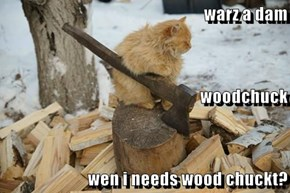warz a dam woodchuck wen i needs wood chuckt?