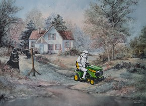 Painting Characters Into Thrift Store Paintings Makes Them 1000 Percent Better