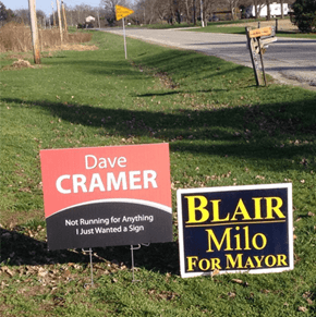 Remember to Vote Based on the Things That Really Matter: Signs