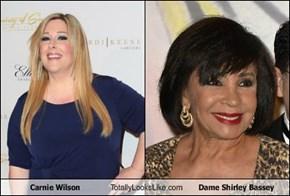 Carnie Wilson Totally Looks Like Dame Shirley Bassey