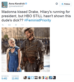 We Still Haven't Reached Gender Equality, Game of Thrones!