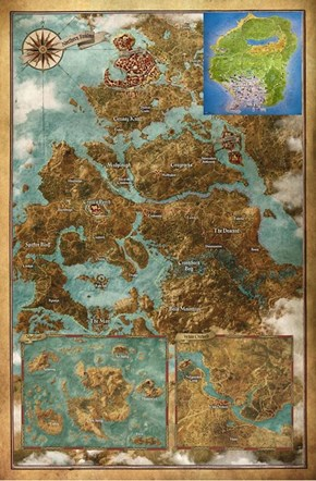 The Size of The Witcher 3's World Map vs. Los Santos