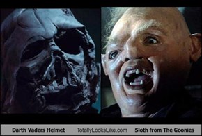 Darth Vaders Helmet Totally Looks Like Sloth from The Goonies