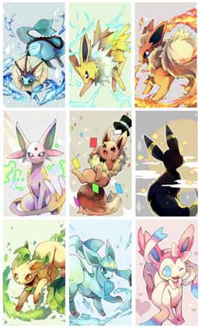 Eevee Celebrates the Eeveelutions