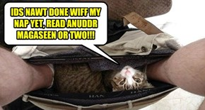 IDS NAWT DONE WIFF MY NAP YET, READ ANUDDR MAGASEEN OR TWO!!!